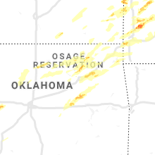 Regional Hail Map for Tulsa, OK - Wednesday, May 22, 2019