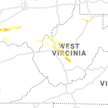 Regional Hail Map for Charleston, WV - Thursday, May 23, 2019