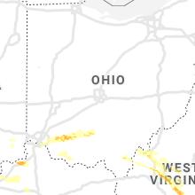 Regional Hail Map for Columbus, OH - Thursday, May 23, 2019