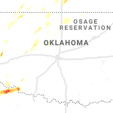 Regional Hail Map for Oklahoma City, OK - Friday, May 24, 2019