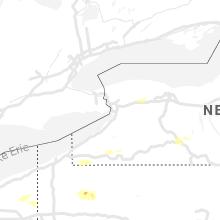 Regional Hail Map for Buffalo, NY - Saturday, May 25, 2019