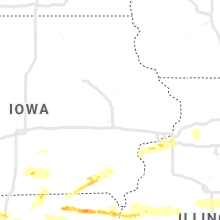 Regional Hail Map for Cedar Rapids, IA - Saturday, May 25, 2019
