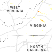 Regional Hail Map for Roanoke, VA - Saturday, May 25, 2019