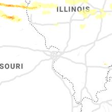 Regional Hail Map for Saint Louis, MO - Saturday, May 25, 2019