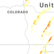 Regional Hail Map for Pueblo, CO - Sunday, May 26, 2019