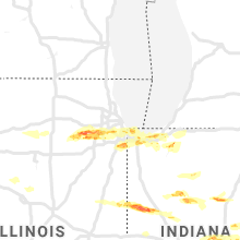 Regional Hail Map for Chicago, IL - Monday, May 27, 2019