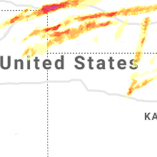 Regional Hail Map for Colby, KS - Monday, May 27, 2019