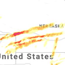 Hail Map for north-platte-ne 2019-05-27