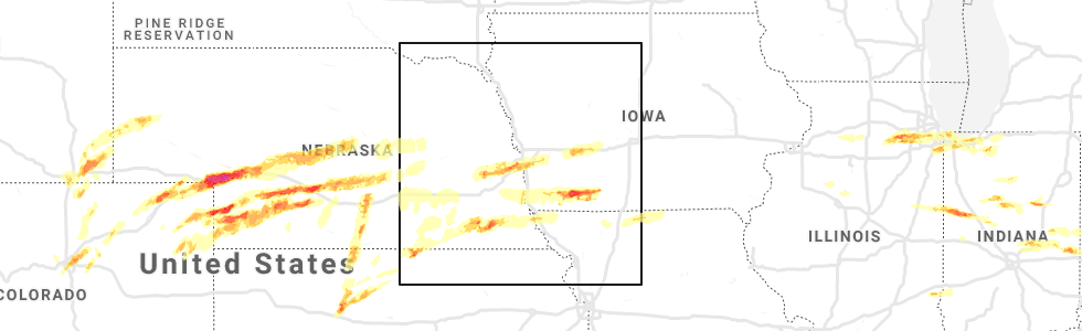 Interactive Hail Maps - Hail Map for Carter Lake, IA on