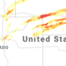 Regional Hail Map for Yuma, CO - Monday, May 27, 2019