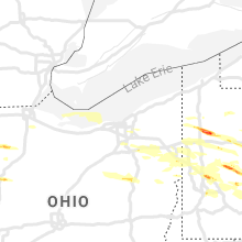 Hail Map for cleveland-oh 2019-05-28