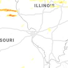 Regional Hail Map for Saint Louis, MO - Tuesday, May 28, 2019