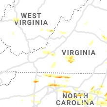 Regional Hail Map for Roanoke, VA - Friday, May 31, 2019