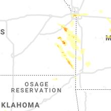 Regional Hail Map for Chanute, KS - Saturday, June 1, 2019