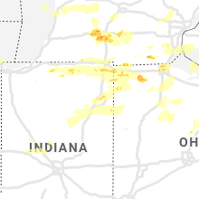 Regional Hail Map for Fort Wayne, IN - Saturday, June 1, 2019