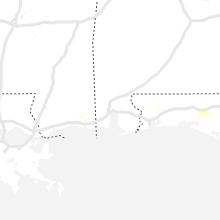 Regional Hail Map for Mobile, AL - Saturday, June 1, 2019