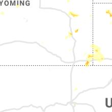 Regional Hail Map for Laramie, WY - Sunday, June 2, 2019