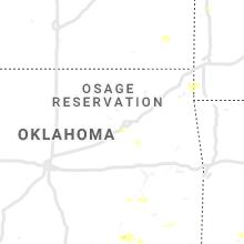 Regional Hail Map for Tulsa, OK - Monday, June 3, 2019