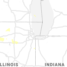 Regional Hail Map for Chicago, IL - Tuesday, June 4, 2019