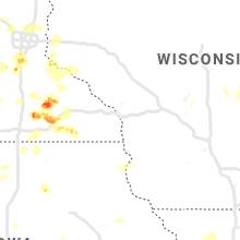 Regional Hail Map for La Crosse, WI - Tuesday, June 4, 2019