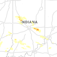 Regional Hail Map for Indianapolis, IN - Wednesday, June 5, 2019