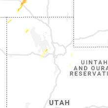 Regional Hail Map for Salt Lake City, UT - Thursday, June 6, 2019