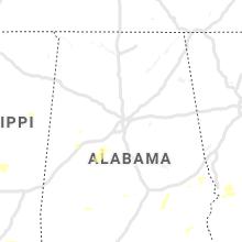 Regional Hail Map for Birmingham, AL - Friday, June 7, 2019