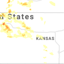 Regional Hail Map for Hays, KS - Saturday, June 8, 2019