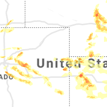 Regional Hail Map for Yuma, CO - Saturday, June 8, 2019