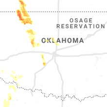 Regional Hail Map for Oklahoma City, OK - Tuesday, June 11, 2019