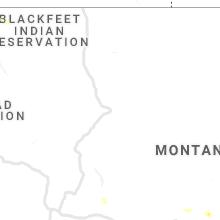 Regional Hail Map for Great Falls, MT - Thursday, June 13, 2019