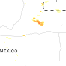 Regional Hail Map for Tucumcari, NM - Thursday, June 13, 2019