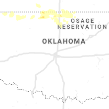 Regional Hail Map for Oklahoma City, OK - Friday, June 14, 2019