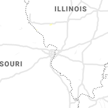 Regional Hail Map for Saint Louis, MO - Friday, June 14, 2019
