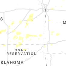 Regional Hail Map for Chanute, KS - Saturday, June 15, 2019