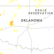 Regional Hail Map for Oklahoma City, OK - Saturday, June 15, 2019