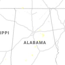 Regional Hail Map for Birmingham, AL - Sunday, June 16, 2019