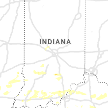 Regional Hail Map for Indianapolis, IN - Sunday, June 16, 2019