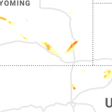 Regional Hail Map for Laramie, WY - Sunday, June 16, 2019