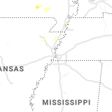 Regional Hail Map for Memphis, TN - Sunday, June 16, 2019