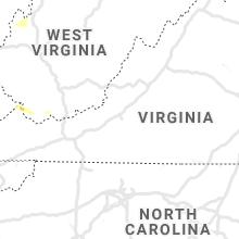 Regional Hail Map for Roanoke, VA - Sunday, June 16, 2019