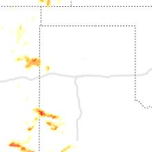Regional Hail Map for Amarillo, TX - Monday, June 17, 2019
