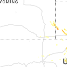 Regional Hail Map for Laramie, WY - Monday, June 17, 2019