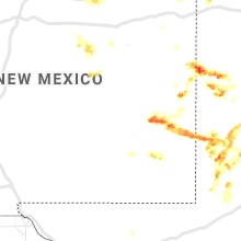 Regional Hail Map for Roswell, NM - Monday, June 17, 2019