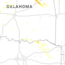 Regional Hail Map for Atoka, OK - Tuesday, June 18, 2019