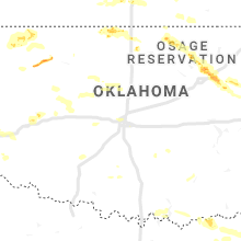 Regional Hail Map for Oklahoma City, OK - Tuesday, June 18, 2019