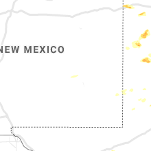 Regional Hail Map for Roswell, NM - Tuesday, June 18, 2019