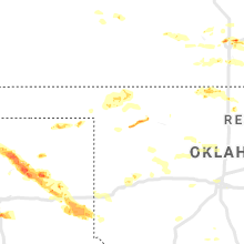 Regional Hail Map for Woodward, OK - Tuesday, June 18, 2019