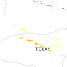 Regional Hail Map for Abilene, TX - Wednesday, June 19, 2019