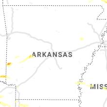Regional Hail Map for Little Rock, AR - Wednesday, June 19, 2019